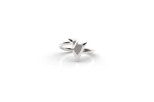 Mima Pejoska | Triangle Doublet-latest  RING,Band Ring design 2021