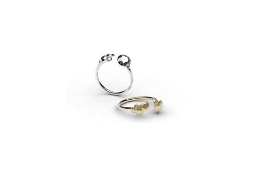 Mima Pejoska | Cluster Rounds-latest  RING,Band Ring design 2021