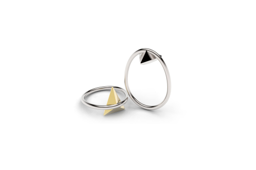 Mima Pejoska | Upside Down Triangle-latest  RING,Band Ring design 2021