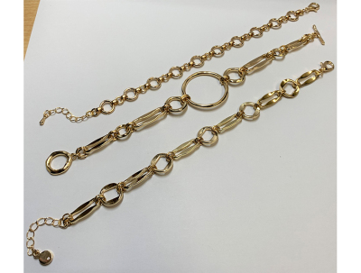 Alchemy Aura + | Molded Metal Chain Link Bracelet Set-latest BRACELET design 2021