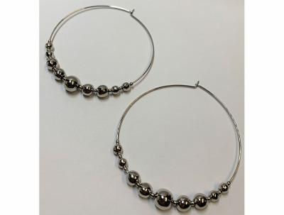 Alchemy Aura + | Wire Hoop w/Molded Metal Beads-latest EARRING design 2021