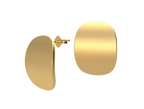 Hesita Carla   NERA BASICS Curve Earrings in Matte Gold-latest   design 2021