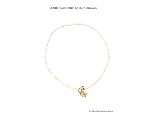 Heart and Pearls Necklace-latest   design 2021