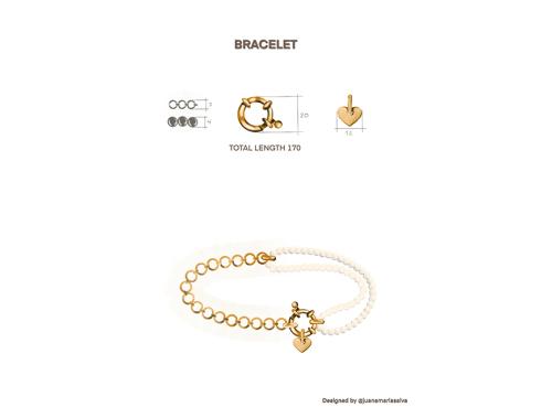 Pears and heart bracelet-latest  BRACELET,Chain design 2021